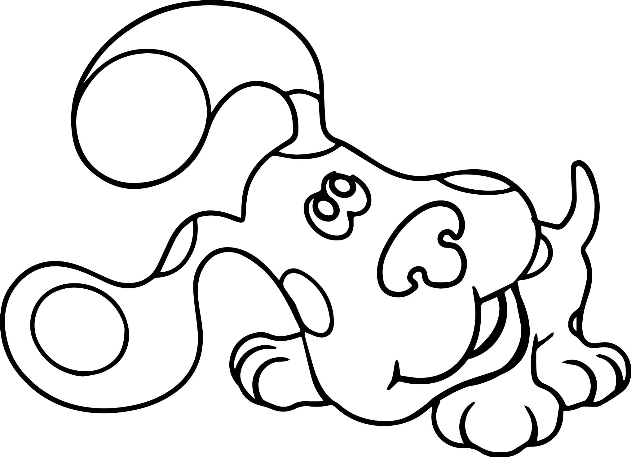 Blue's Clues Listen Coloring Page