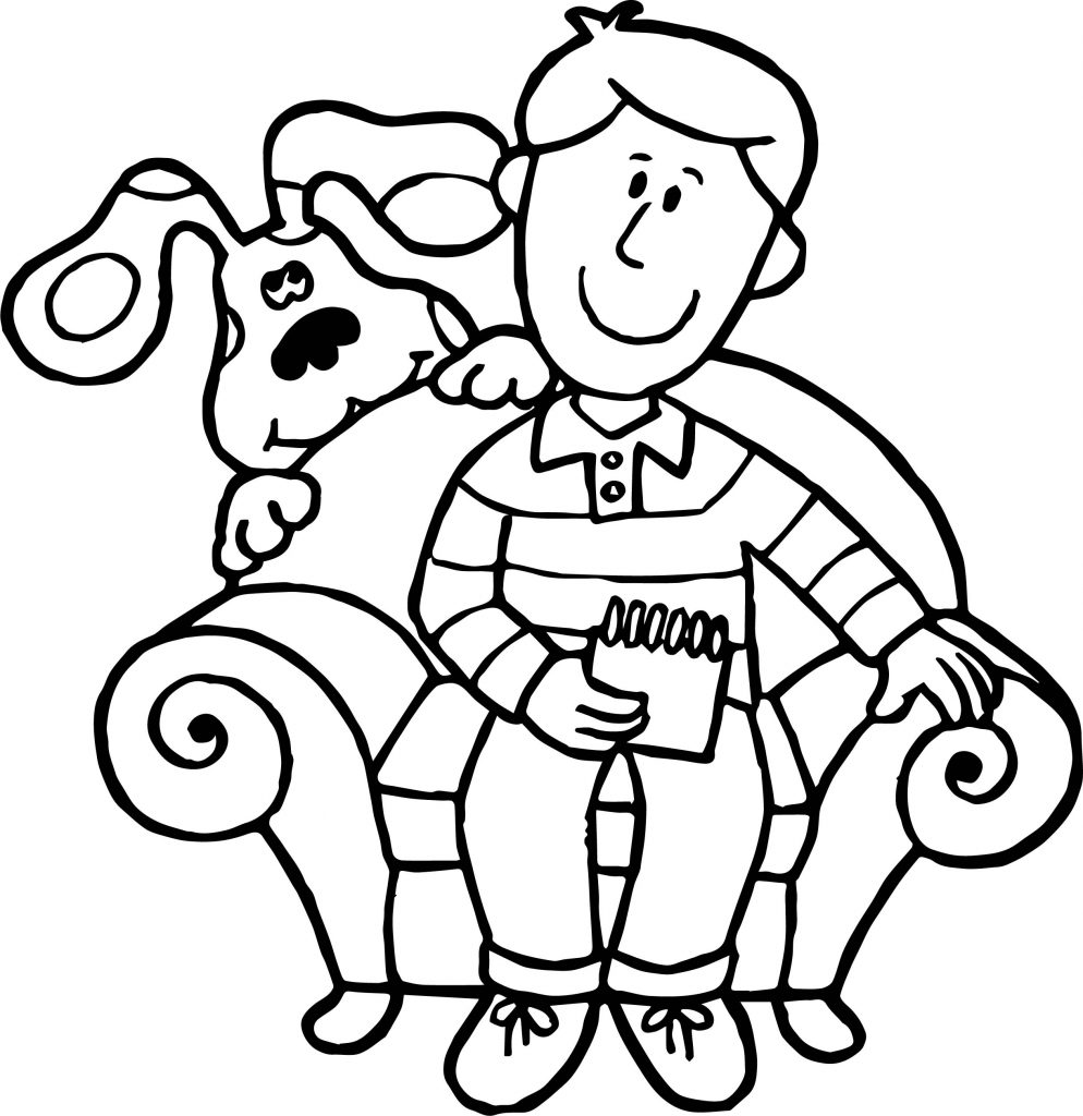blues clues coloring page - blue s clues man coloring page