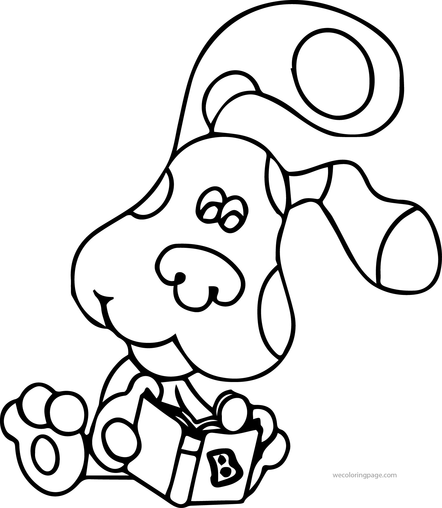 Blue's Clues Reading Book Coloring Page