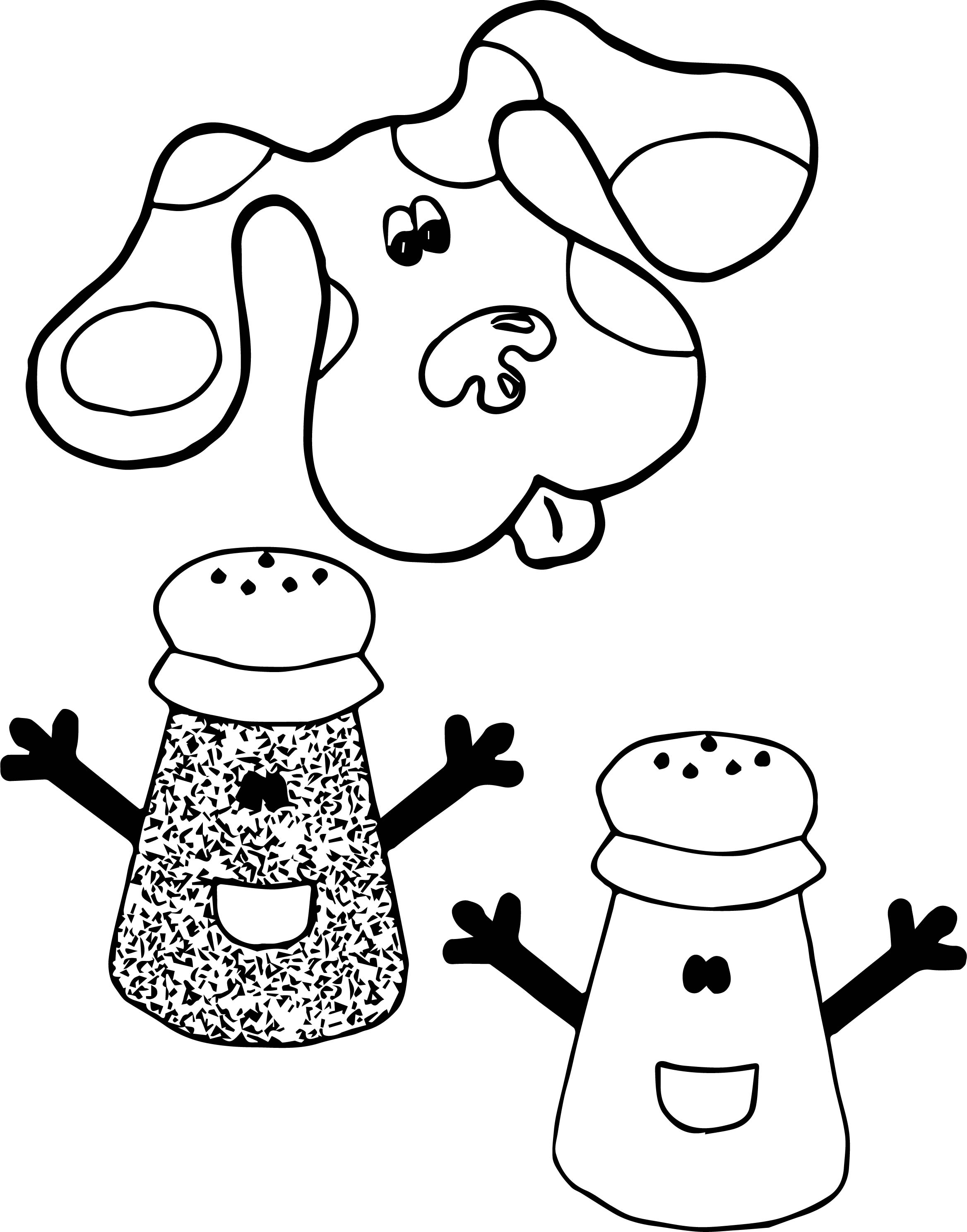 Blue's Clues Salt Coloring Page