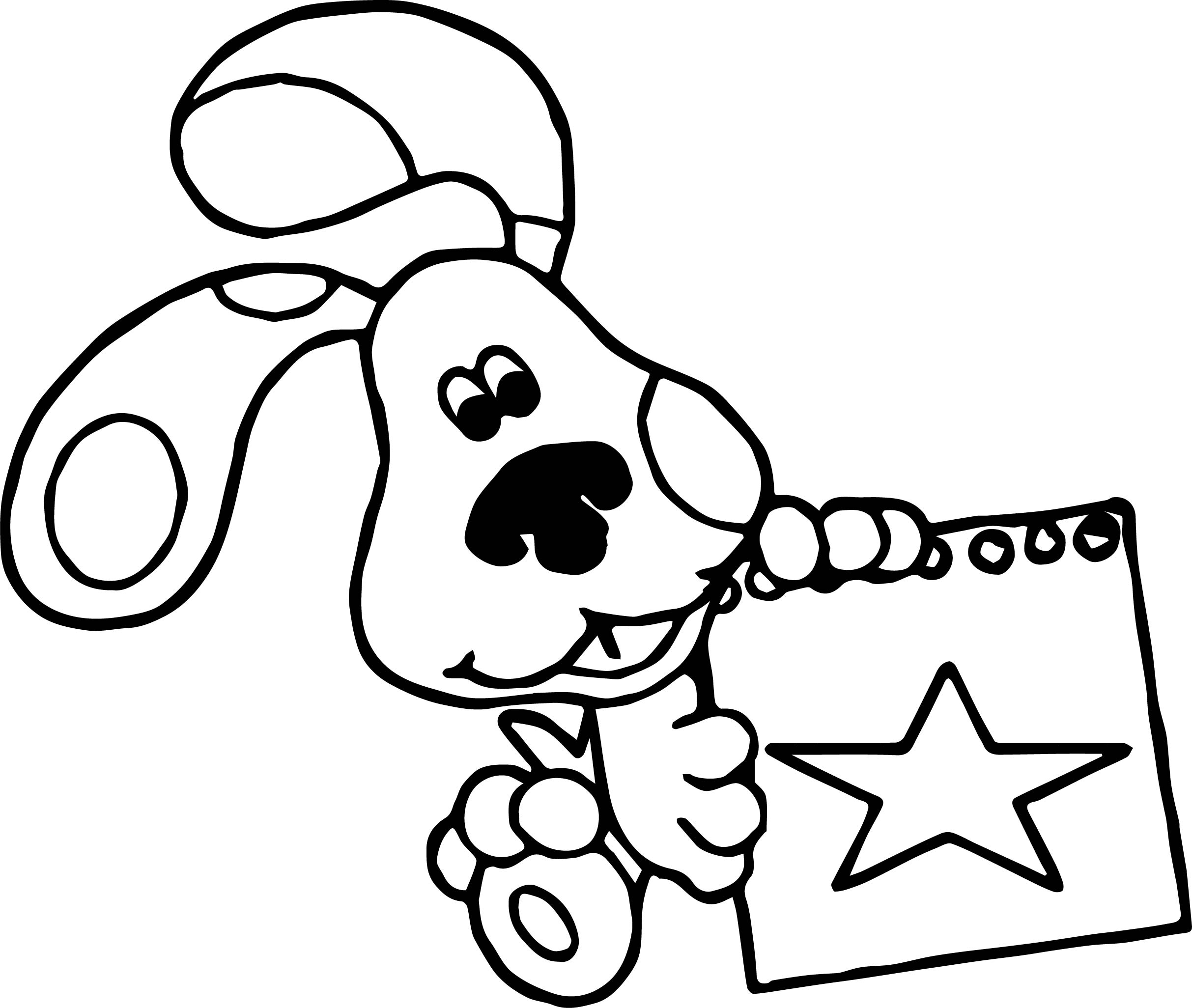 Blue's Clues Star Coloring Page