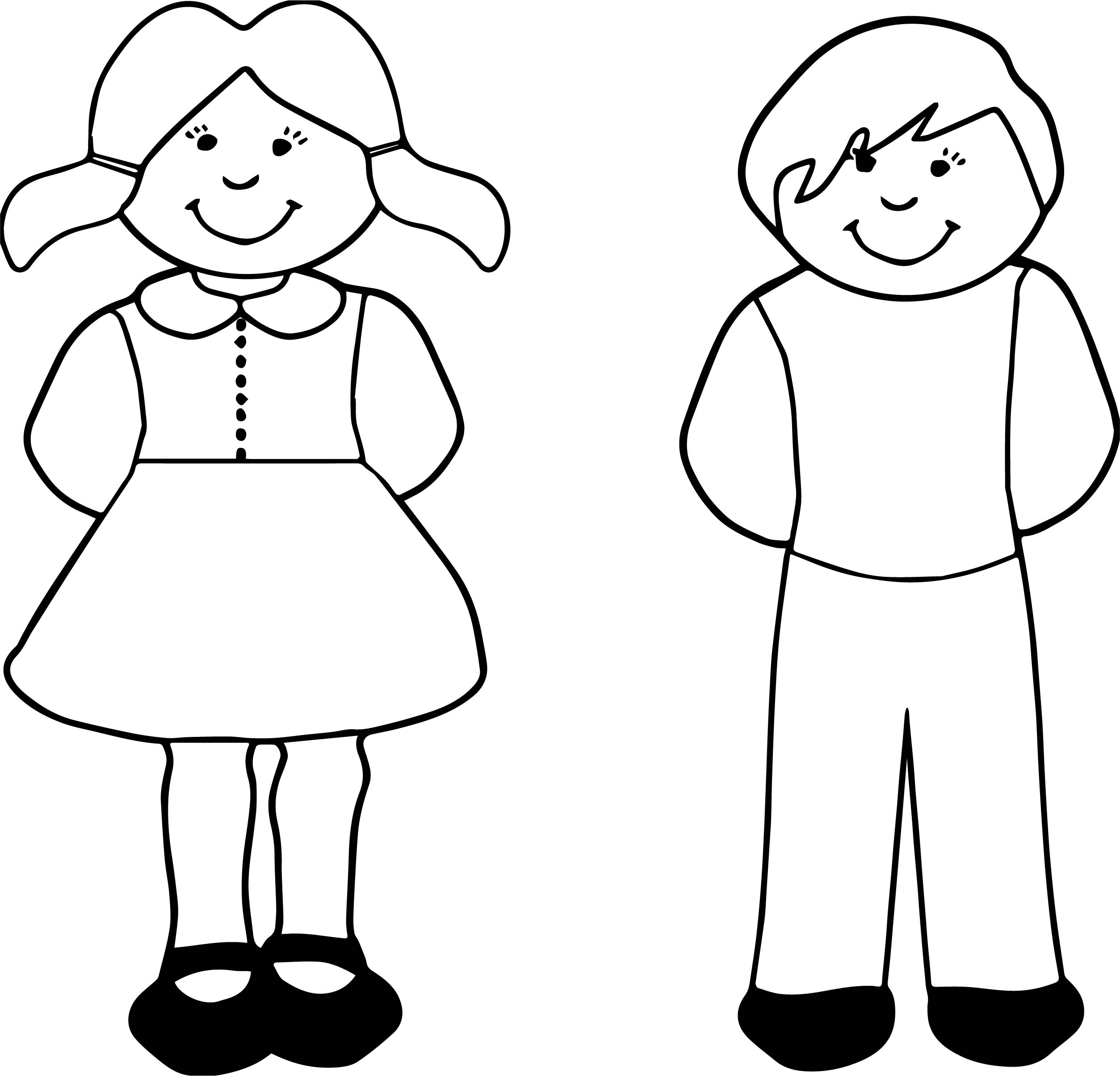 Boy girl coloring page for Coloring pages girl and boy