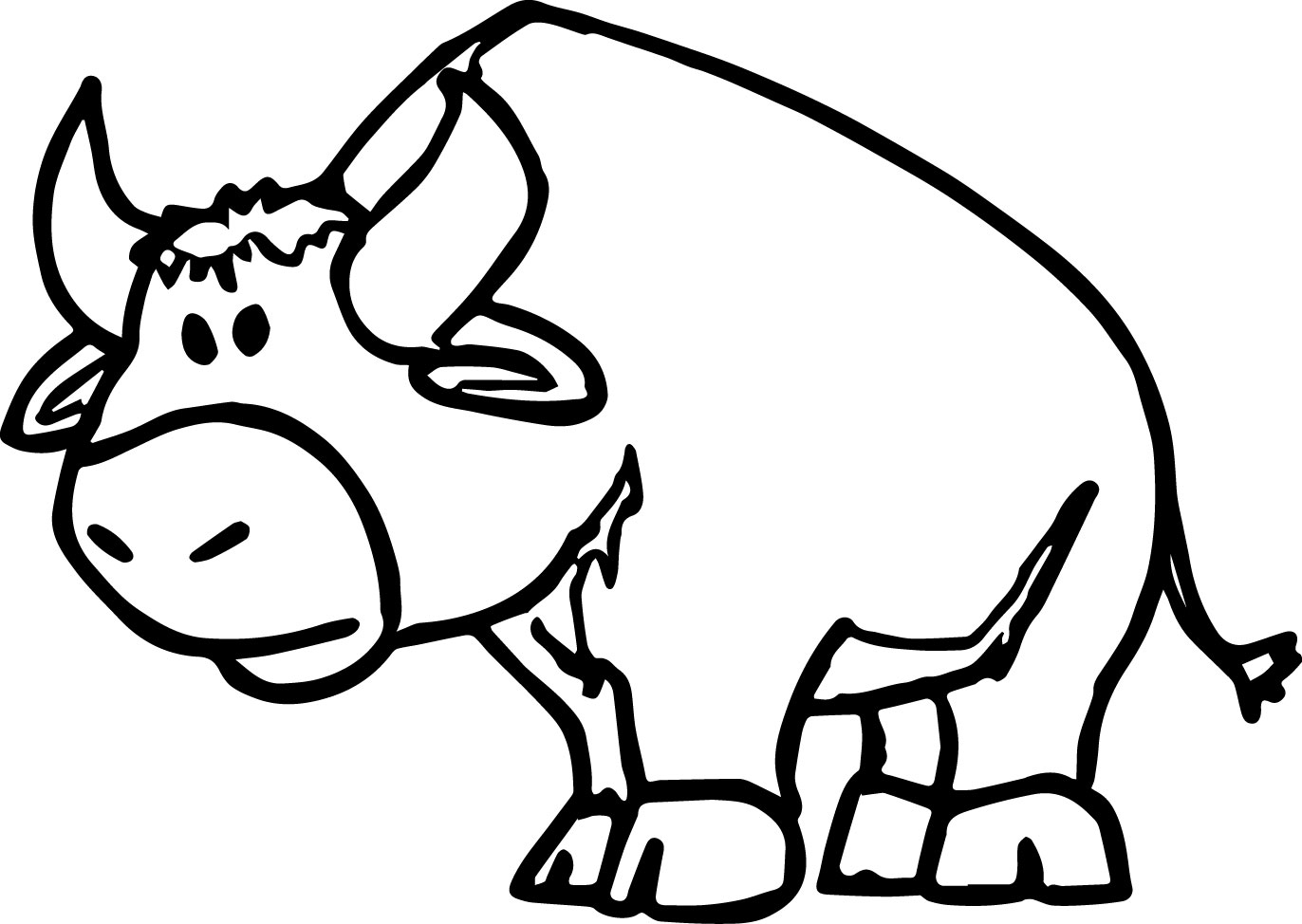 Bull Coloring Image Picture Page