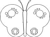 Butterfly Circle Wing Coloring Page