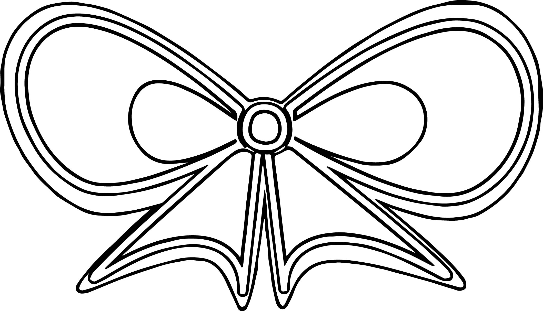 ribbon coloring pages - butterfly ribbon coloring page