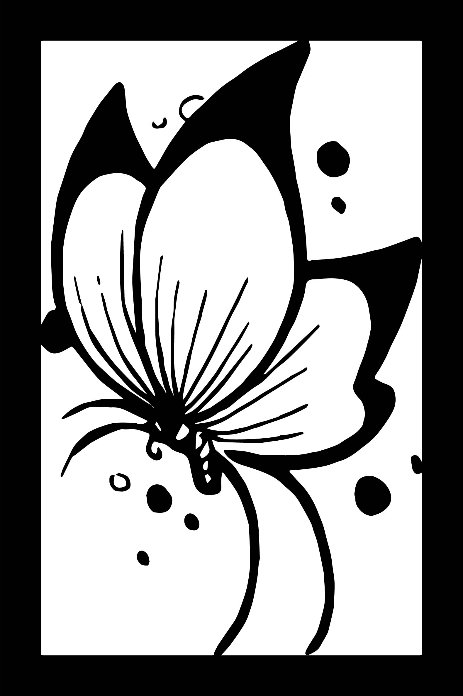 Butterfly Table Coloring Page
