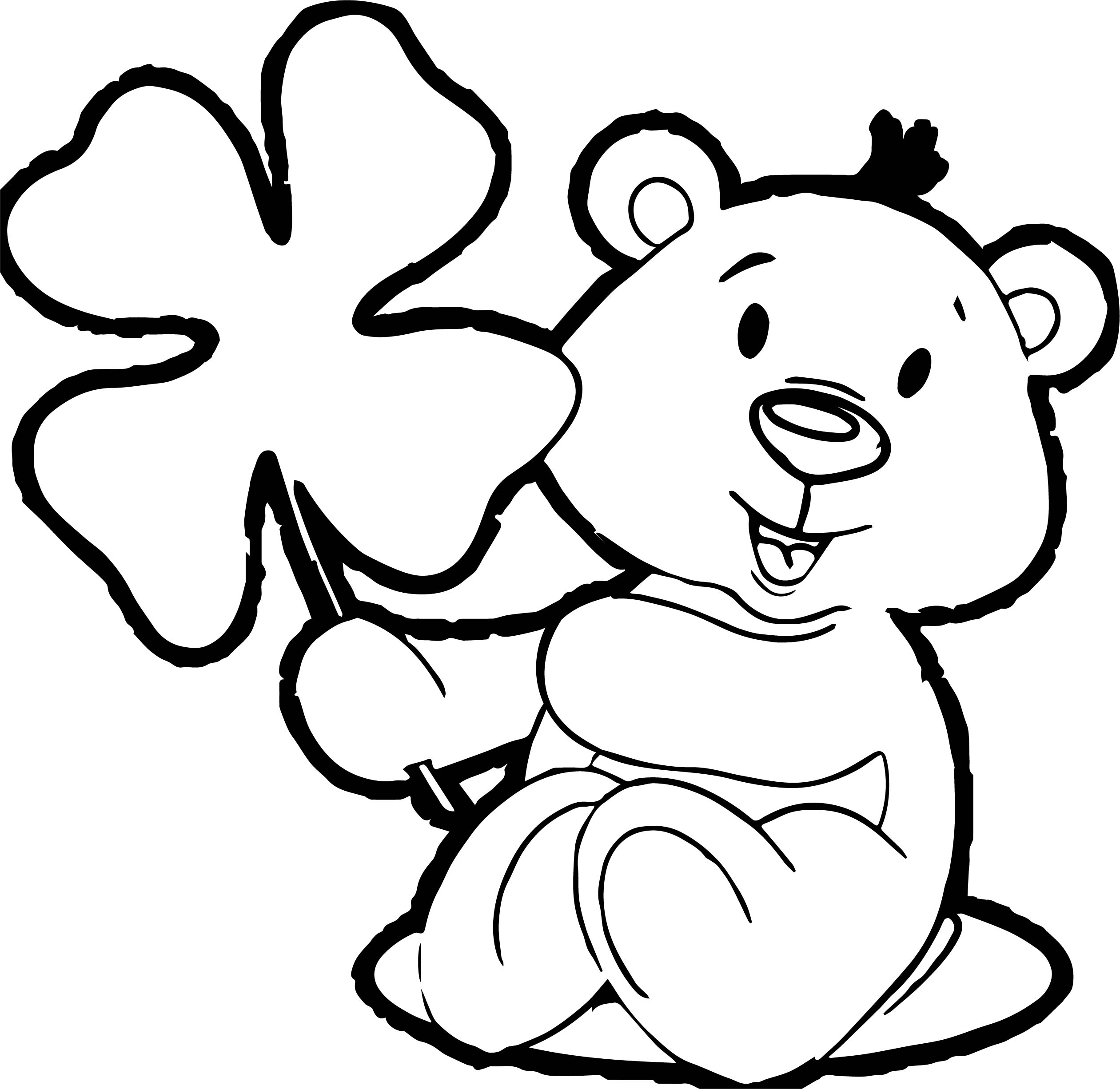 By Bear Coloring Page