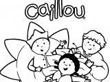 Caillou And Friends Flower Coloring Page