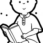 Caillou Book And Story Time Coloring Page