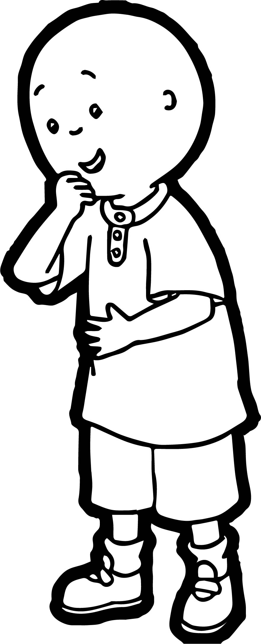 Caillou Comic Coloring Page