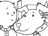 Caillou Dog Coloring Page