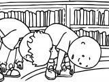 Caillou Gymnastic Coloring Page
