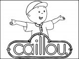 Caillou Logo Text Coloring Page