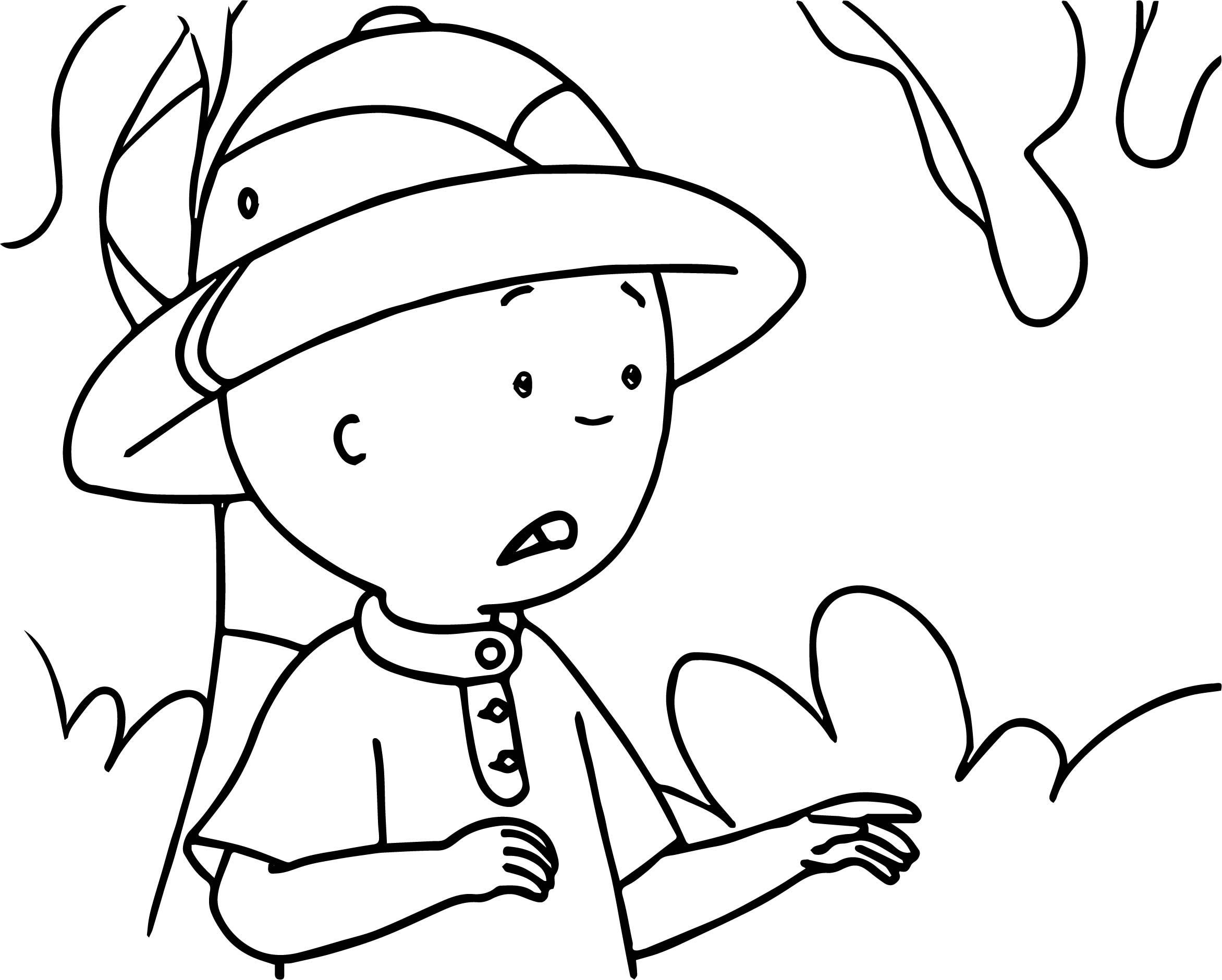 Caillou Rain Forest Coloring Page