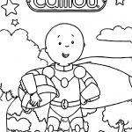 Caillou Robot Coloring Page