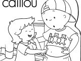 Caillou Sister My Shirt Coloring Page
