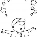 Caillou Stars Coloring Page