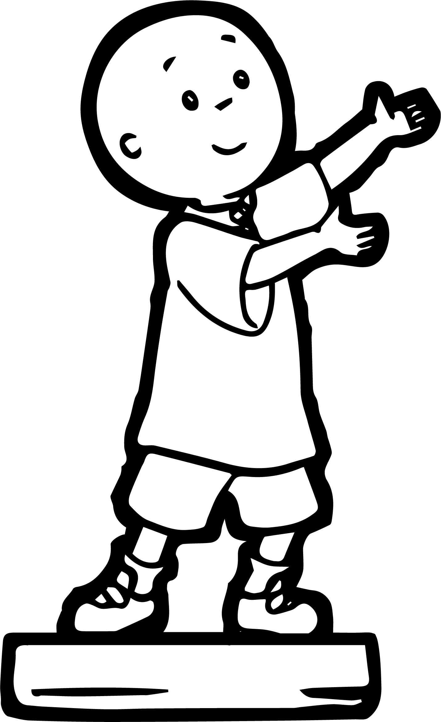 Caillou Statue Coloring Page