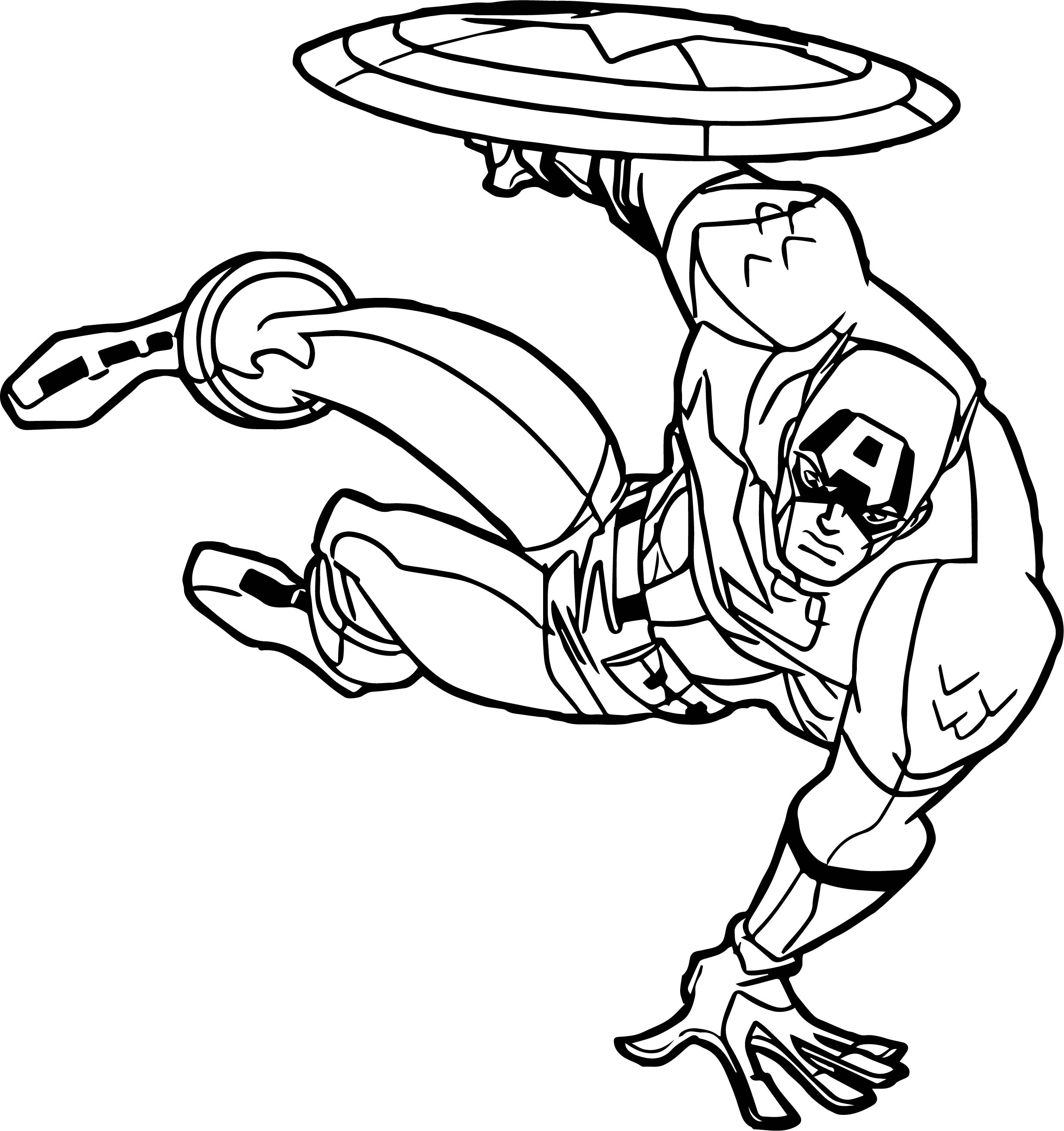 Captain Jump Bounce Coloring Page