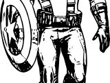 Captain Walking Coloring Page