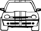 Car Front View Basic Coloring Page
