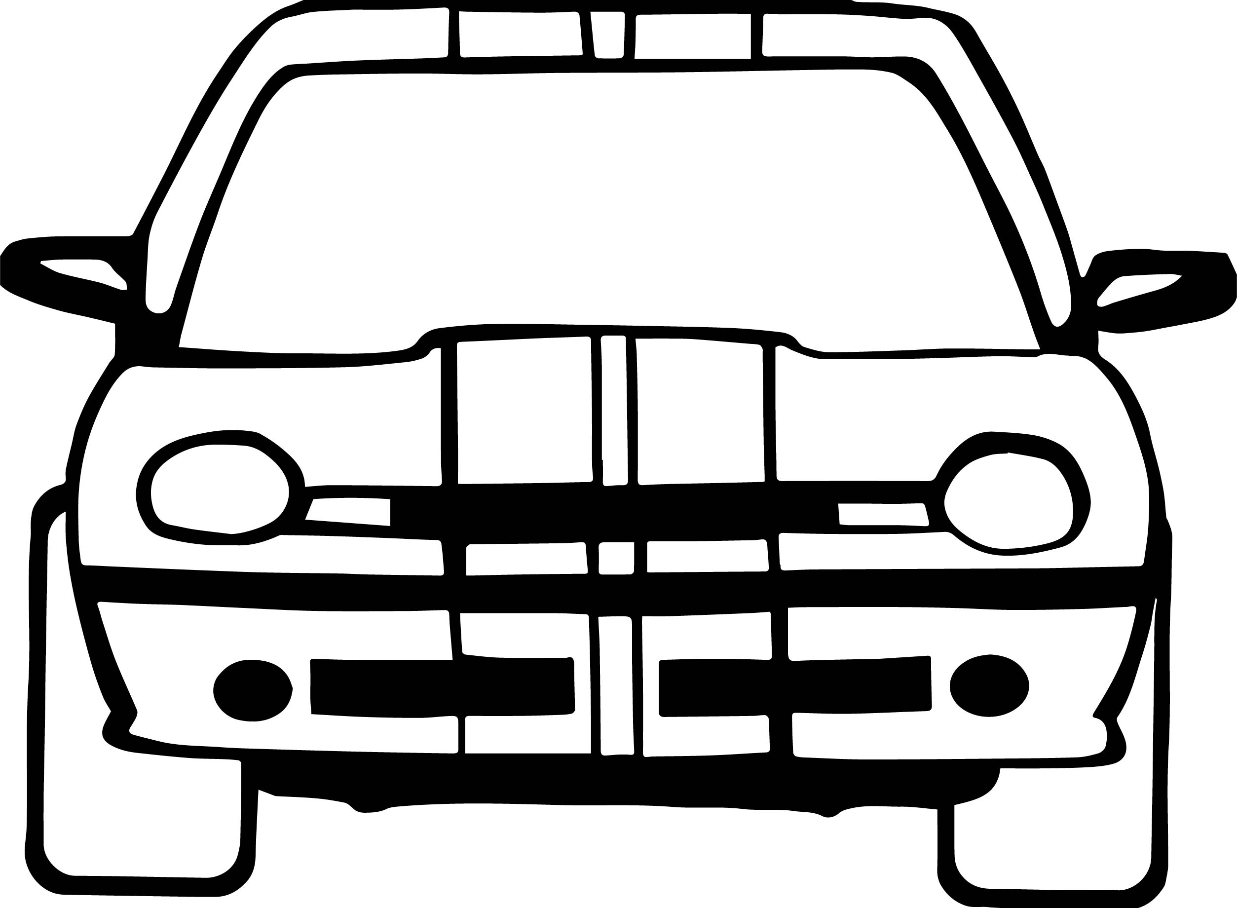 car front view coloring coloring pages