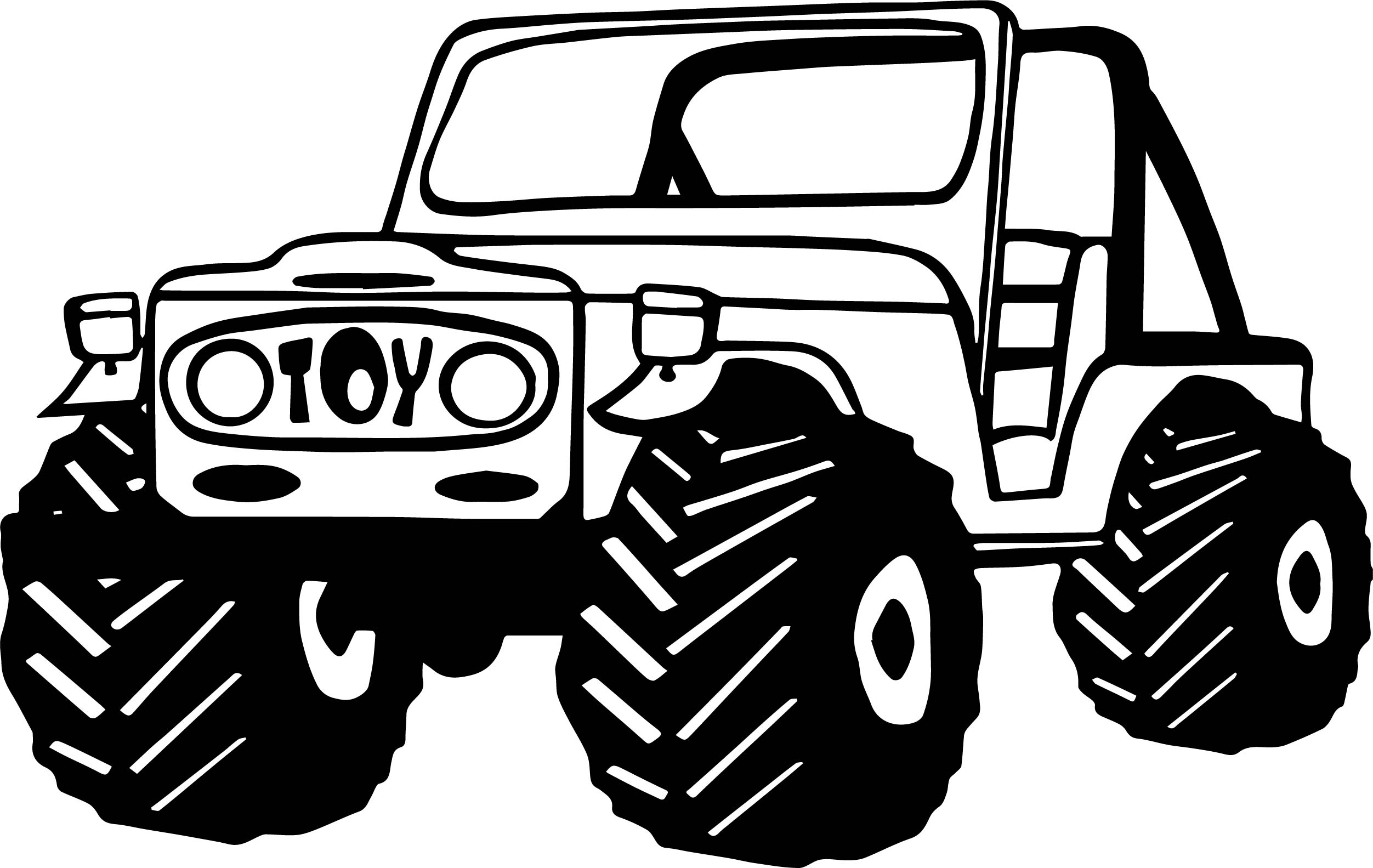 Car Jeep Coloring Page