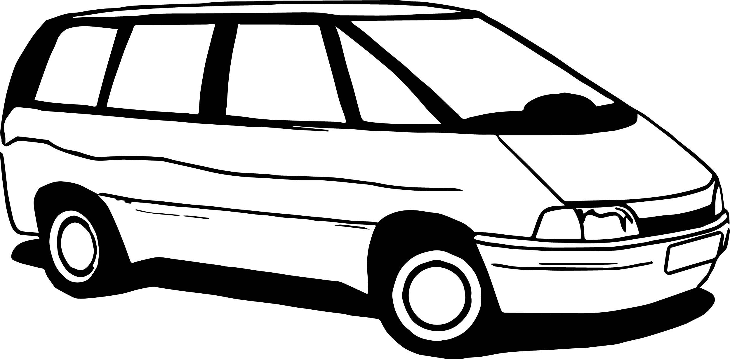 Car Minibus Coloring Page
