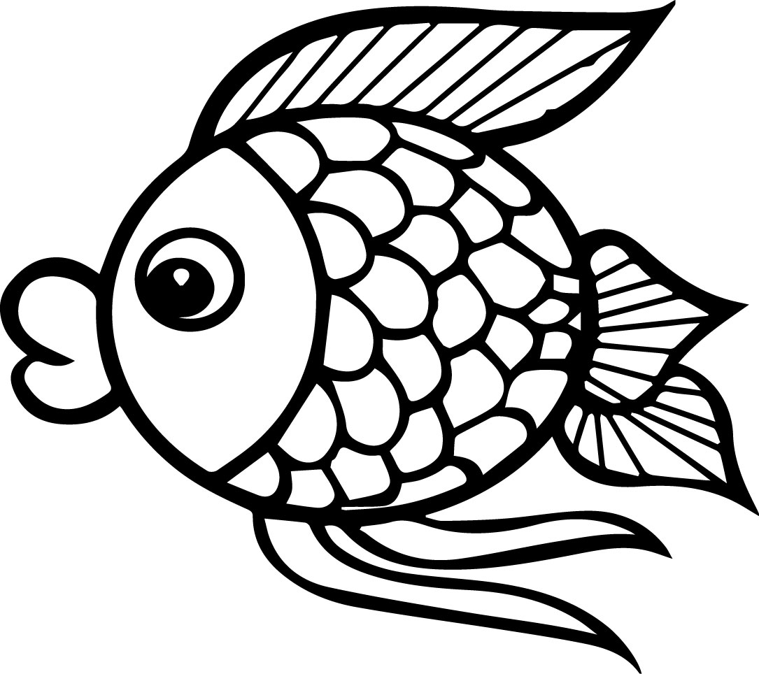 coloring pages cartoon fish - photo#29