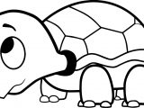 Cartoon Turtle Coloring Page
