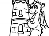 Castle Dragon Guard Coloring Page