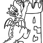 Castle Dragon High Coloring Page
