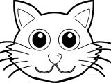 Cat Face Front Coloring Page