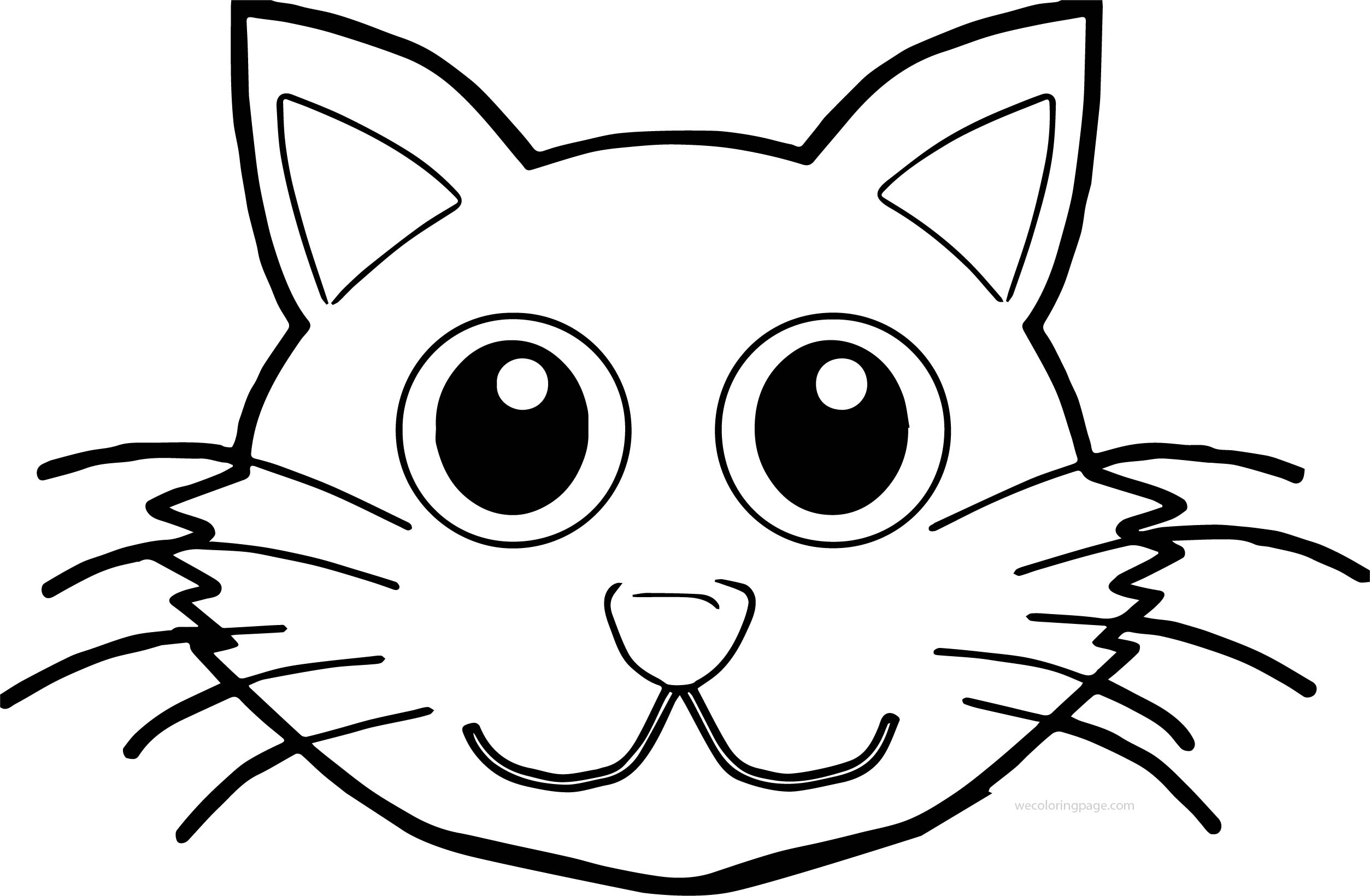 printable cat face coloring pages - photo#6