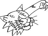 Cat Punch Coloring Page