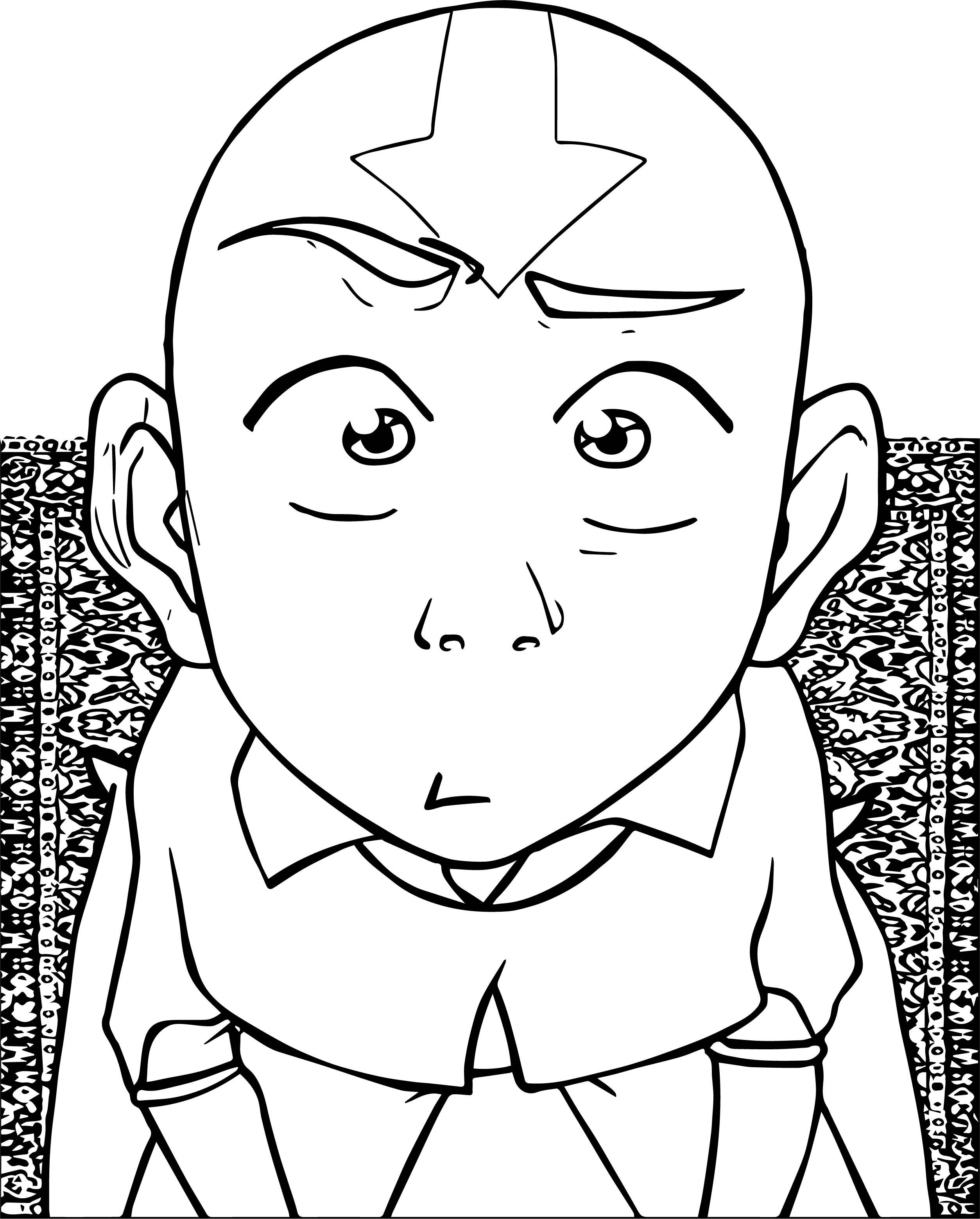 Chapter Aang Islandwriter Avatar Aang Coloring Page