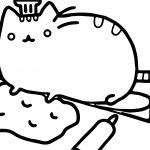 Chef Cat Coloring Page