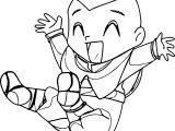Chibi Aang Jini Chan Avatar Aang Coloring Page