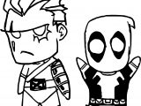 Chibi Happy Angry Deadpool Coloring Page