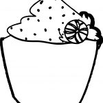 Christmas Cupcake Art Coloring Page