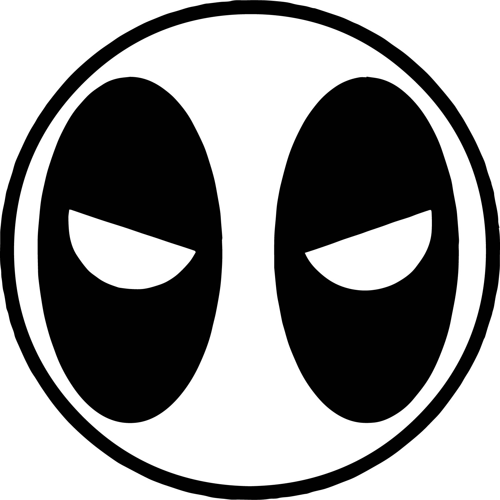 Circle Deadpool Coloring Page