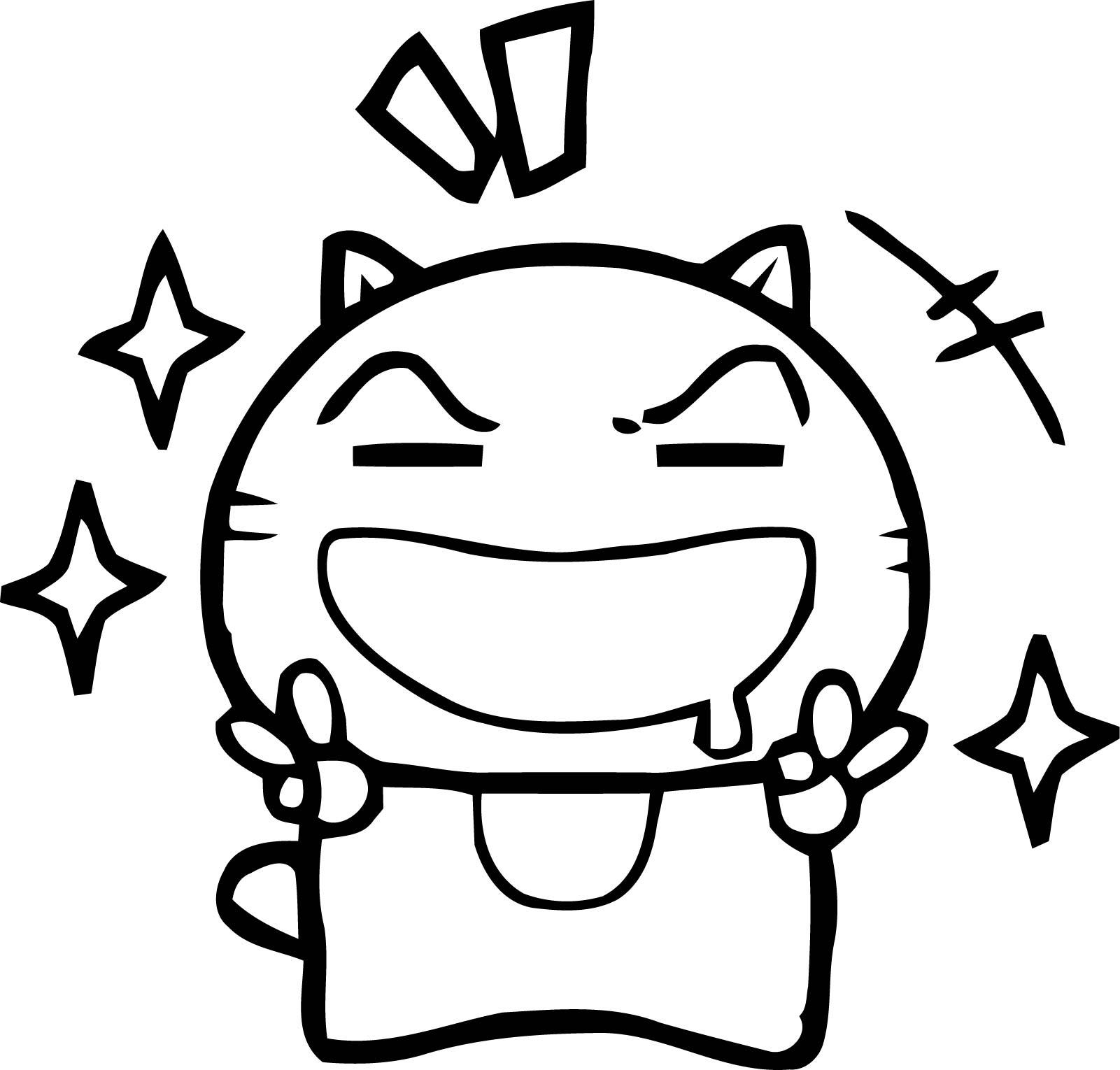 Color Chibi Manga Cat Coloring Page