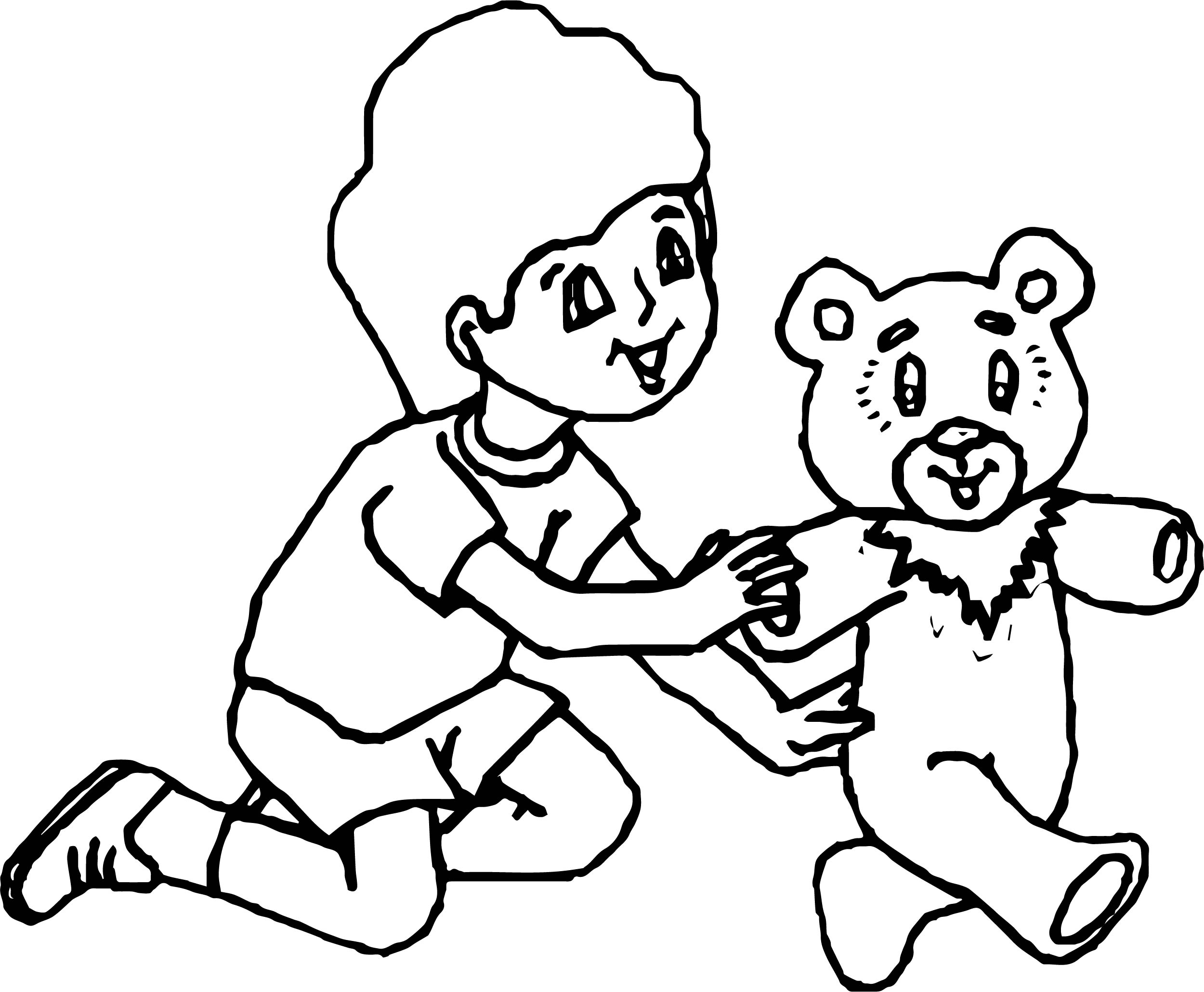 Come Bear Coloring Page