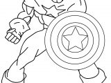 Come Here Captain America Cartoon Coloring Page