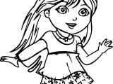 Coming Dora The Explorer Coloring Page