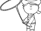 Cow Girl With A Lasso Cowgirl With A Lasso Image Coloring Page
