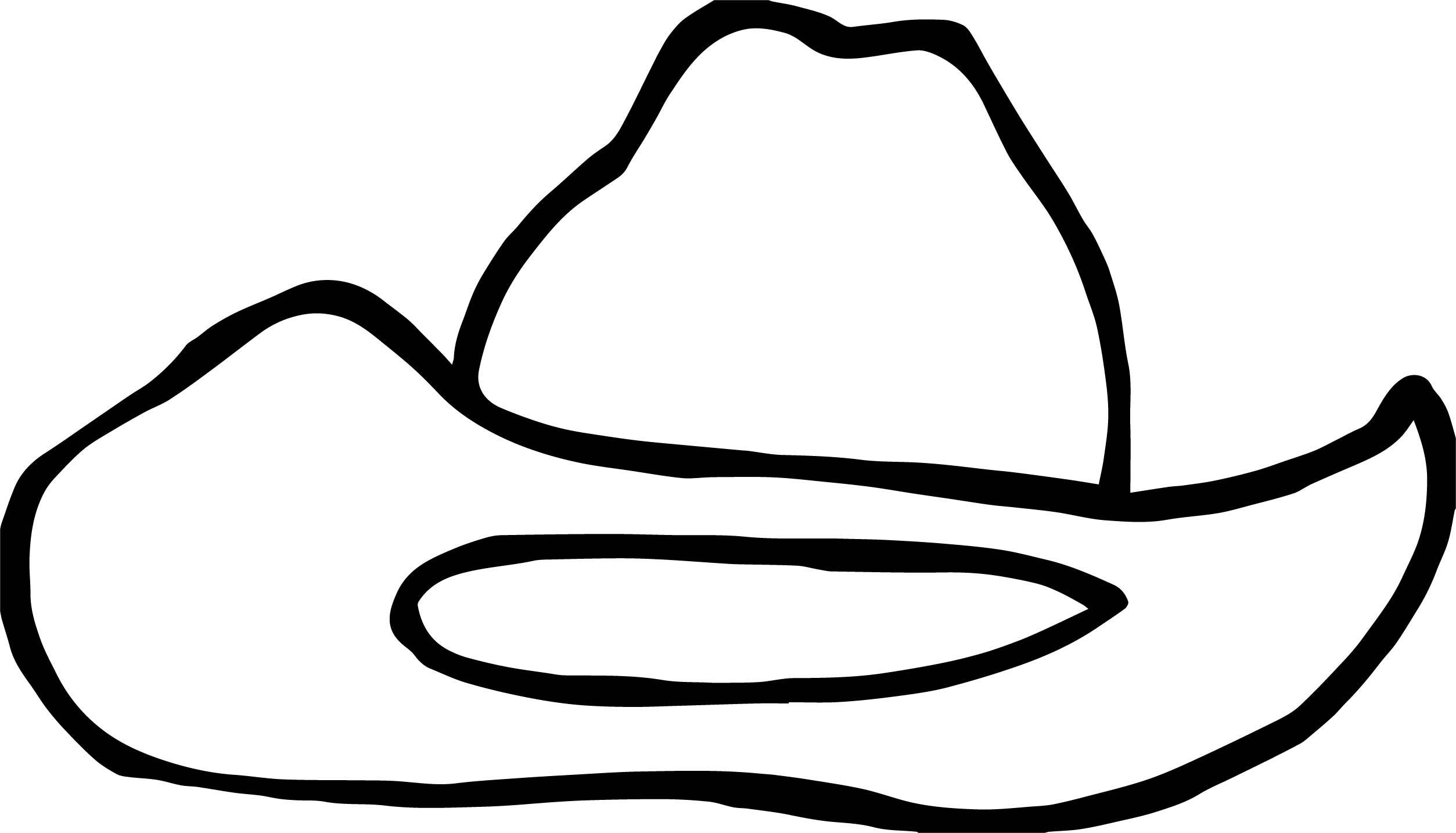 Cowboy Hat Coloring Pages
