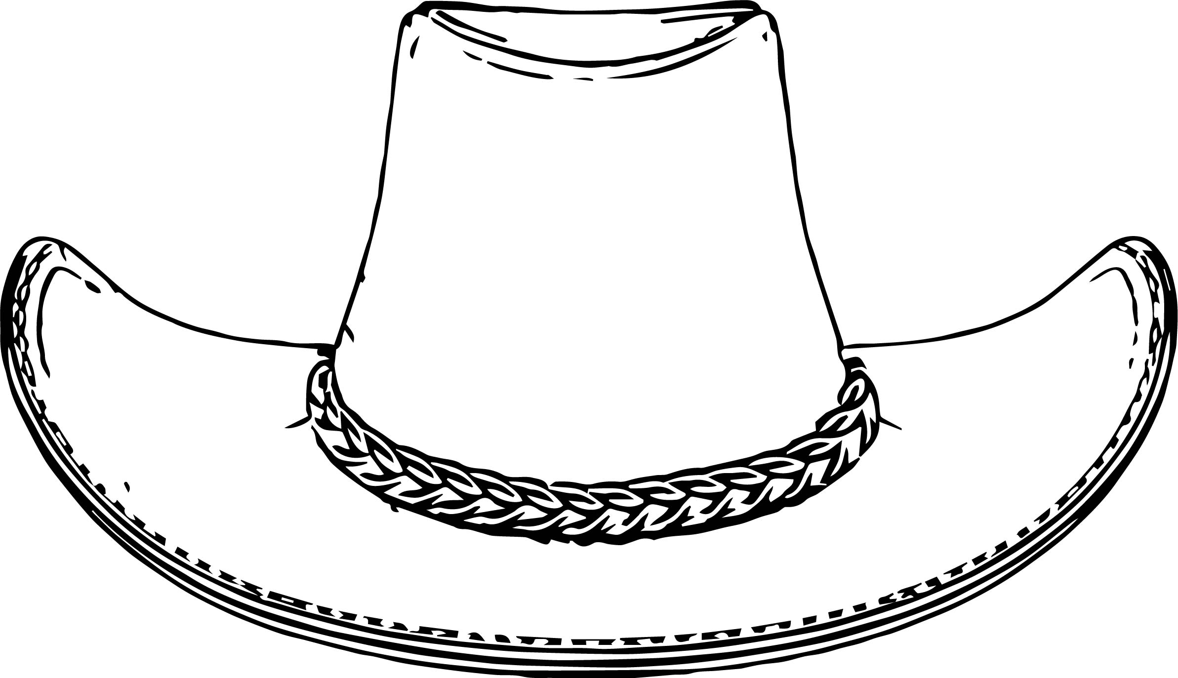 Cowboy Hat Coloring Pages Wecoloringpage Com