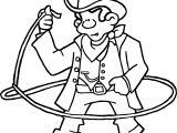 Cowboy Turn Rope American History Cowboy Coloring Page