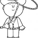 Cowboy Turn Rope Coloring Page